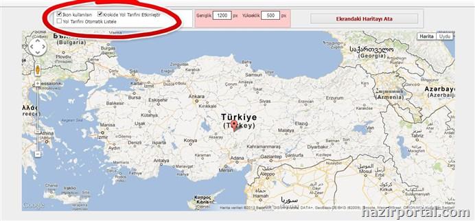 Google haritasında yol tarifini etkinleştirme...