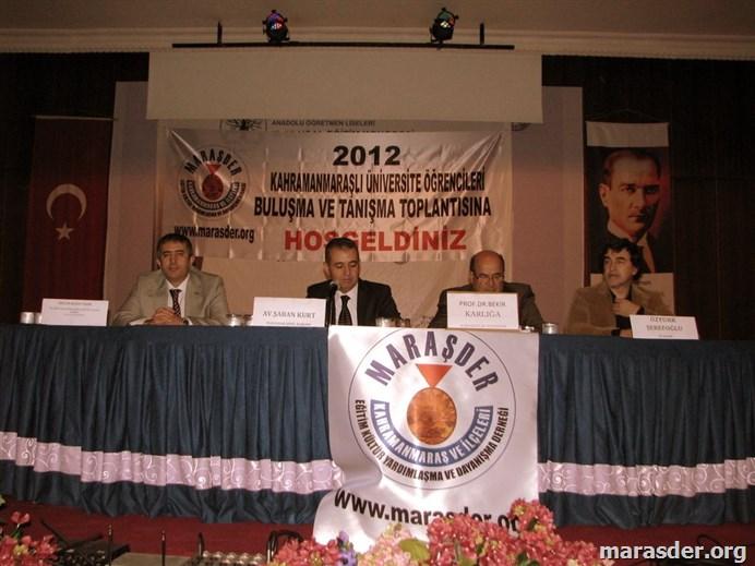 2012 Kahramanmaraşlı Öğrenci semineri...