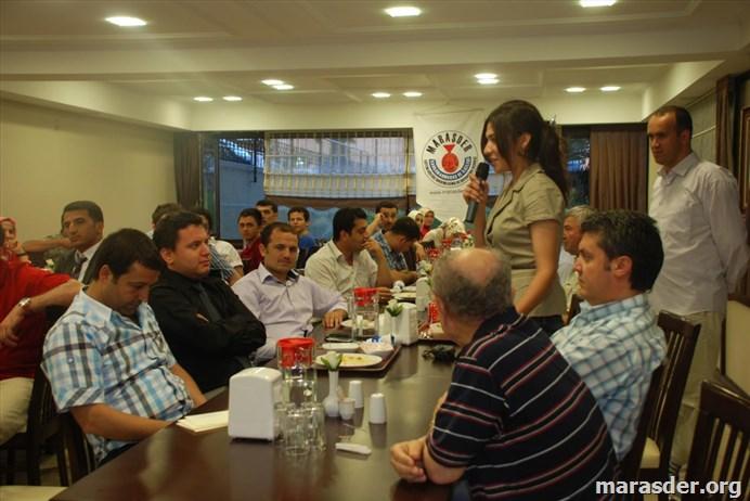 Maraşder  Mezun Bursiyer Öğrencileri İle Yemekte......