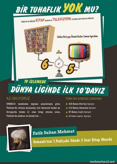 Kitap Okuma ve Tv İzleme Oranı Afiş Çalışması...